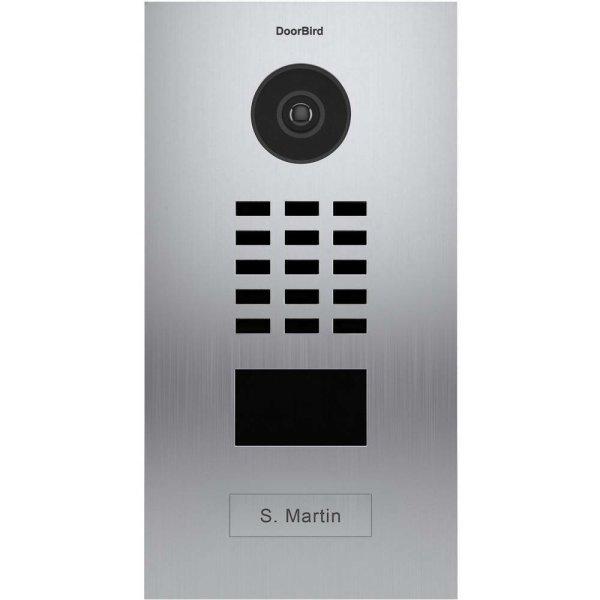 DoorBird IP Video Türstation D2101V, Unterputz, 1 Ruftaste Edelstahl V2A, gebürstet