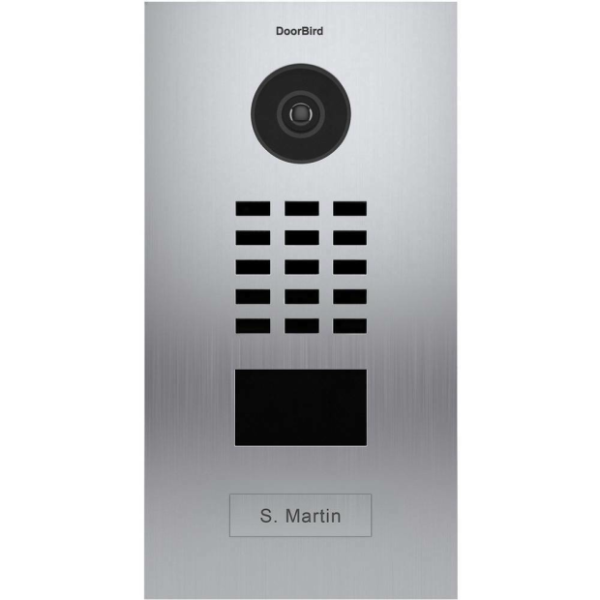 DoorBird IP Video Türstation D2101V, LAN Ausseneinheit 1 Familienhaus, Unterputz